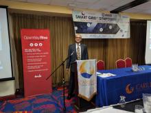 Delivering keynote at CARILEC