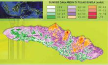 Sumba wind resource map